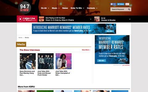 Screenshot of Press Page iheart.com - Get Top Podcasts, Interviews & Videos from KBRU - captured June 1, 2016