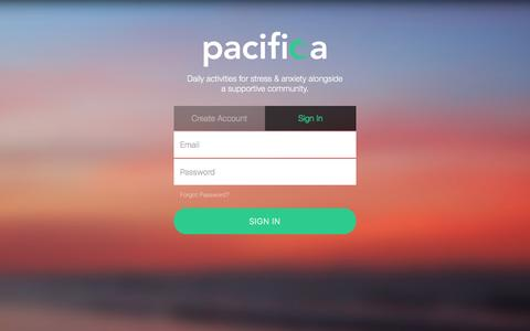Screenshot of Login Page thinkpacifica.com - Pacifica - captured Jan. 19, 2016