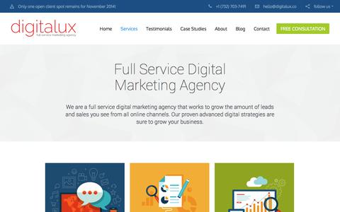 Digital Marketing Services | Digitalux