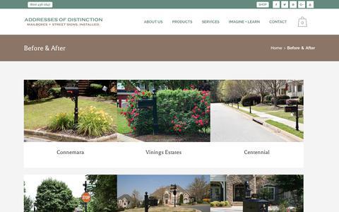 Screenshot of Case Studies Page addressesofdistinction.com - Before & After - Addresses of Distinction - captured Nov. 6, 2018