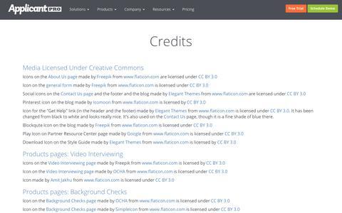 Credits | ApplicantPro