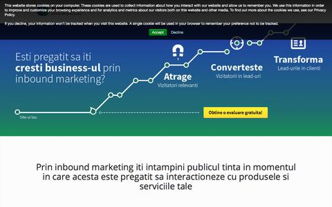 Screenshot of Home Page beans-united.ro - Agentie de Inbound Marketing in Romania| Beans United - captured Aug. 1, 2018