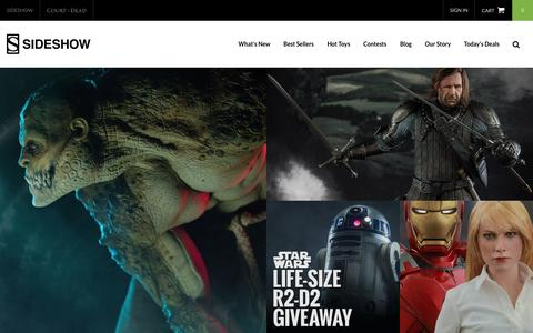 Screenshot of Home Page sideshowtoy.com - Pop Culture Collectible Figures   Sideshow Collectibles - captured Aug. 21, 2016