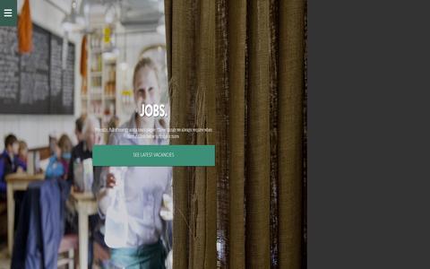 Screenshot of Jobs Page bills-website.co.uk - Jobs | Bill's - Breakfast to Bedtime - captured Sept. 18, 2014