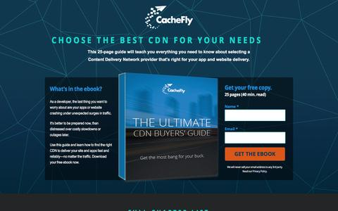Screenshot of Landing Page cachefly.com - The Ultimate CDN Buyers' Guide | CacheFly - captured May 24, 2017