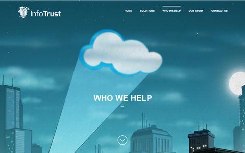 Screenshot of Testimonials Page infotrust.com.au - Who We Help - InfoTrust - captured Nov. 6, 2018