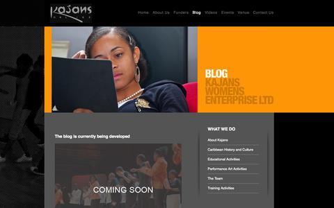 Screenshot of Blog kajans.co.uk - Kajans - captured Oct. 6, 2014