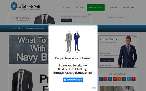 Screenshot of Home Page atailoredsuit.com - Men's Clothing Style & Fashion Guide | Classic & Casual – - captured Sept. 7, 2017