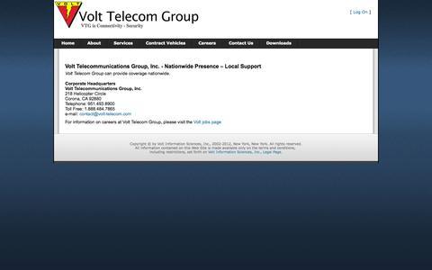 Screenshot of Contact Page volt-telecom.com - Index - captured Oct. 7, 2014