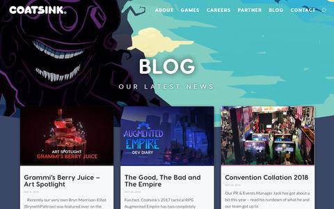Screenshot of Blog coatsink.com - Welcome to the Coatsink Blog - News & Annoucnements - Coatsink® - captured Dec. 15, 2018