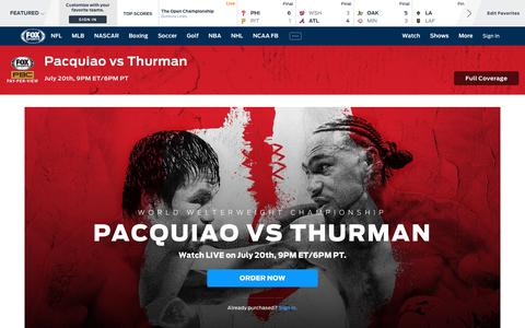 Screenshot of Home Page foxsports.com - Home - Sports News, Scores, Schedules, and Videos | FOX Sports - captured July 20, 2019