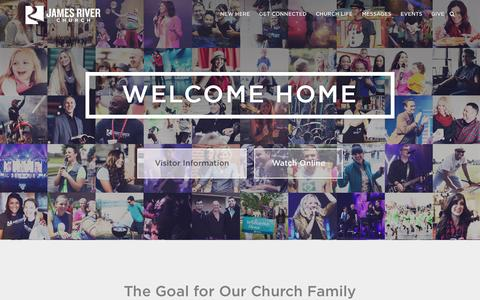 Screenshot of Home Page jamesriver.org - James River Church - Church In Springfield, MO & Ozark, MO - captured June 18, 2015