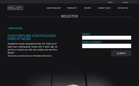 Screenshot of Signup Page boulart.com - Register | Boulart - captured Sept. 30, 2014