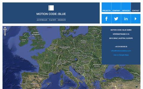 Screenshot of Contact Page motioncodeblue.com - CONTACT - MOTION CODE: BLUEMOTION CODE: BLUE - captured Sept. 30, 2014