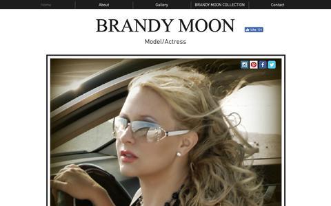 Screenshot of Home Page brandymoon.com - Actress model and handbag line designer Brandy Moon. - captured Oct. 23, 2018