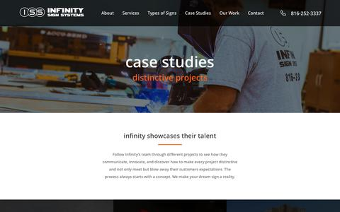 Screenshot of Case Studies Page infinitysignsystems.com - Study Archive - Infinity Signs - captured Nov. 6, 2018