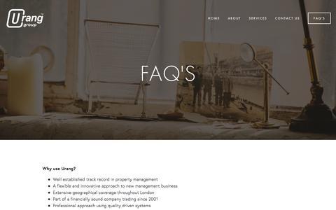 Screenshot of FAQ Page urang.co.uk - FAQ's — Urang Group - captured Nov. 29, 2016