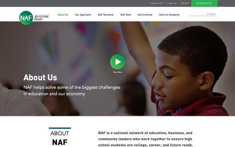 Screenshot of About Page naf.org - About Us - NAF - captured Nov. 15, 2017
