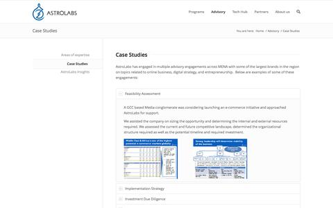 Screenshot of Case Studies Page astrolabs.me - Case Studies - AstroLabs - captured Sept. 30, 2014