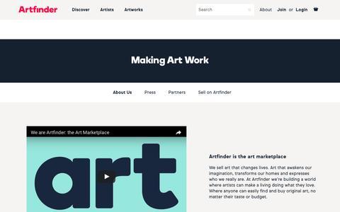 Screenshot of About Page artfinder.com - About | Artfinder - captured Nov. 22, 2016