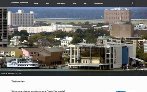 Screenshot of Testimonials Page scnewhomes.com - Testimonials | Charleston Real Estate - captured Nov. 2, 2014