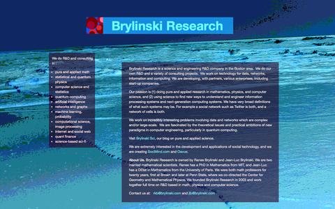 Screenshot of Home Page brylinskiresearch.com - Brylinski Research - captured Sept. 30, 2014