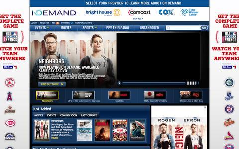 Screenshot of Home Page indemand.com - iN DEMAND - captured Sept. 24, 2014