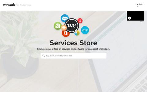 WeWork Services Store