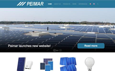 Screenshot of Home Page peimar.com - Peimar | Solar Energy and LED-lighting - captured Sept. 29, 2014