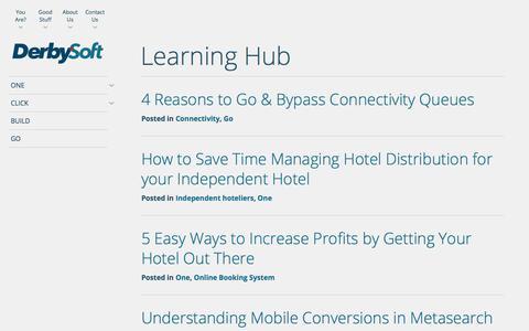 Learning Hub Archive | DerbySoft.com