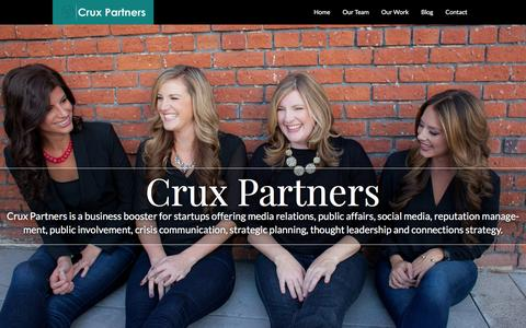 Screenshot of Home Page cruxpartners.com - Home | Crux Partners - captured Dec. 13, 2015