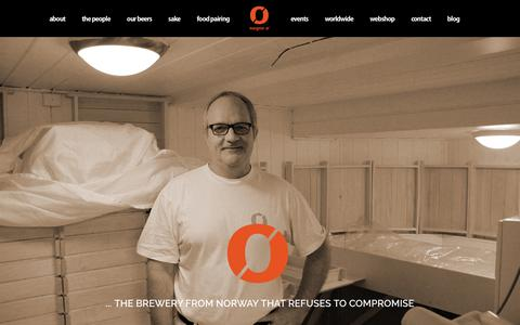 Screenshot of Home Page nogne-o.com - Nøgne Ø Det Kompromissløse Bryggeri A/S - captured Feb. 13, 2016