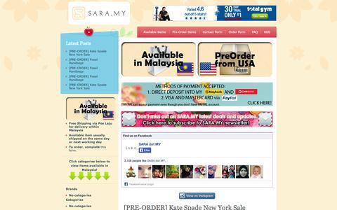 Screenshot of Home Page sara.my - SARA.MY BLOG SHOP - captured Sept. 23, 2014