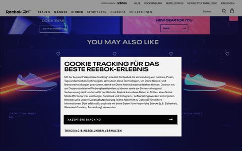 Screenshot of Home Page reebok.de - Reebok Online Store | Reebok® Deutschland - captured Feb. 18, 2020