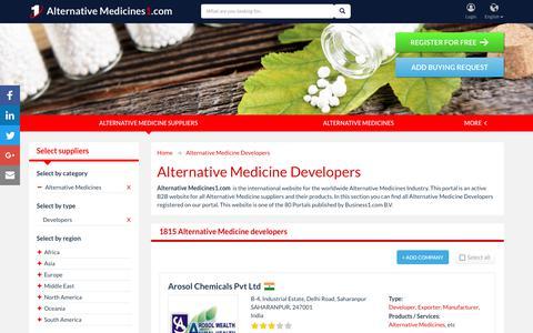 Screenshot of Developers Page alternativemedicines1.com - Alternative Medicine Developers - Alternative Medicines1.com - captured Jan. 5, 2018