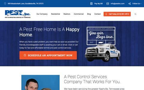 Screenshot of Home Page pestinc.com - PEST Inc. | Pest Control Services - captured Dec. 25, 2016