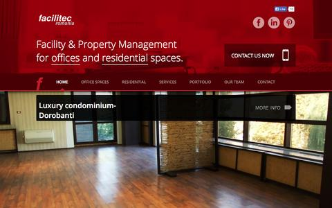 Screenshot of Home Page facilitec.ro - Facilitec Romania | Property managementFacilitec Romania | Property management - captured Oct. 5, 2014