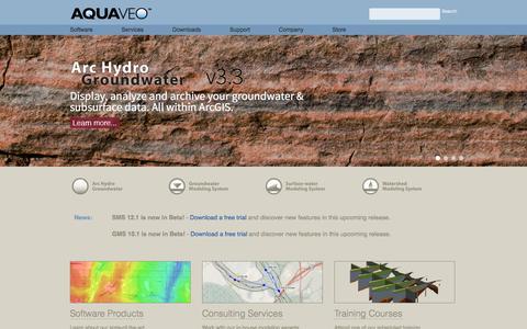 Screenshot of Home Page aquaveo.com - Aquaveo - Water Modeling Solutions - captured Dec. 26, 2015