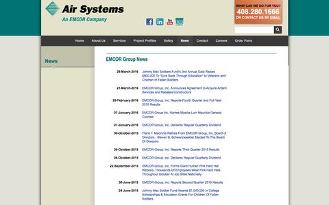 Screenshot of Press Page airsystemsinc.com - Commercial HVAC Companies & Plumbing Companies | Air Systems - captured Sept. 30, 2016