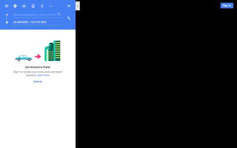 Screenshot of Maps & Directions Page google.com - Google Maps - captured Jan. 28, 2016