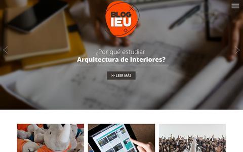 Screenshot of Blog ieu.edu.mx - Blog IEU - Blog IEU - captured Sept. 24, 2018