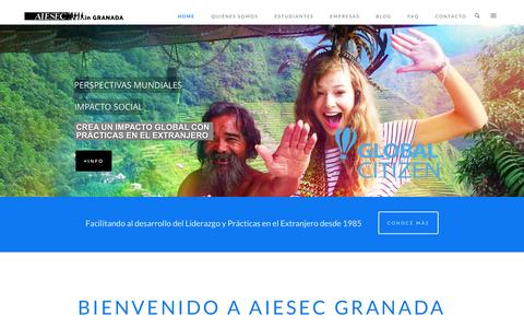 Screenshot of Home Page aiesecgranada.es - AIESEC GRANADA - AIESEC GranadaAIESEC  Granada - captured Dec. 22, 2015