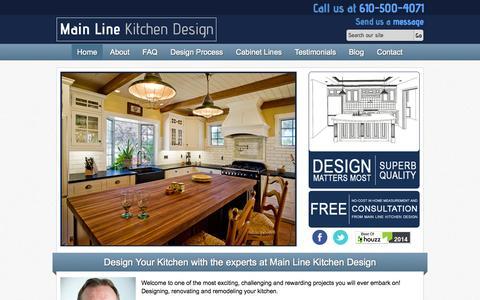 Screenshot of Home Page mainlinekitchendesign.com - Main Line Kitchen Design and Kitchen Cabinets - captured Sept. 26, 2014