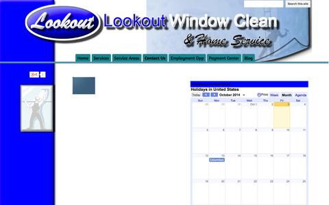 Screenshot of Contact Page lookoutwindowcleanandhomeservice.com - Contact Us - Lookout Window Clean & Home Service - captured Oct. 3, 2014