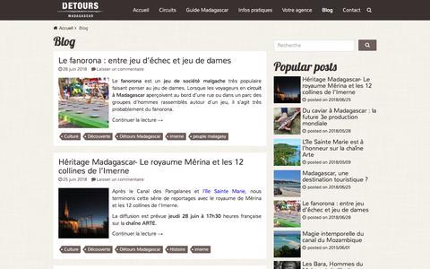 Screenshot of Blog voyagemadagascar.com - Blog Archives - Détours Madagascar - captured June 28, 2018