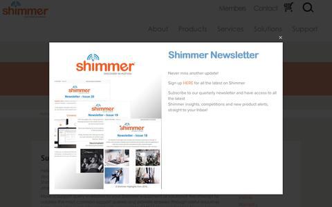 Screenshot of Support Page shimmersensing.com - Support   Shimmer - Supporting Resources - captured Oct. 24, 2017