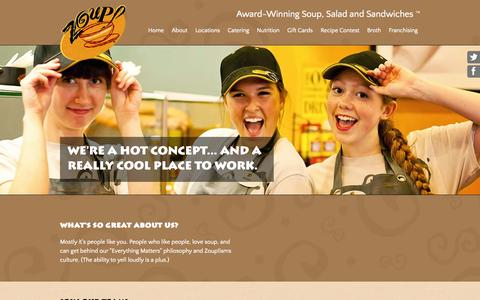 Screenshot of Jobs Page zoup.com - Zoup! Careers - A Really Cool Place to Work - captured Sept. 19, 2014