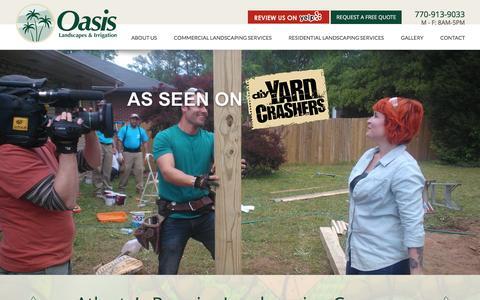 Screenshot of Home Page oasislandscape.com - Landscaping Atlanta - Oasis Landscapes and Irrigation - captured Feb. 25, 2016
