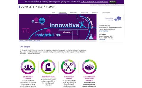 Screenshot of Team Page complete-hv.com - Our people | Complete HealthVizion - captured Oct. 2, 2014