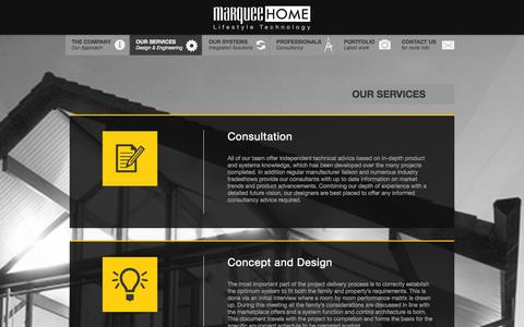 Screenshot of Services Page marqueehome.co.uk - Our Services Archive - MarqueeHome - captured Oct. 27, 2014